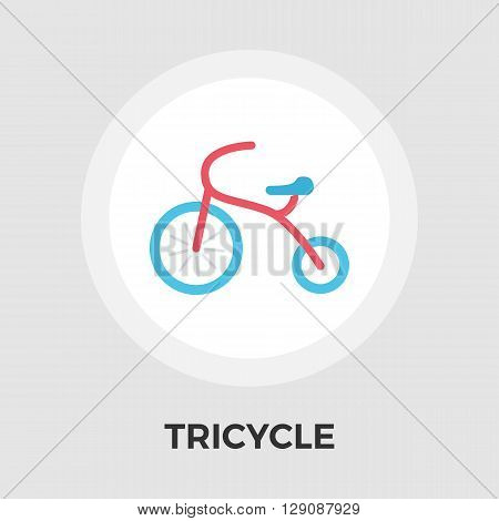 Tricycle icon vector. Flat icon isolated on the white background. Editable EPS file. Vector illustration.