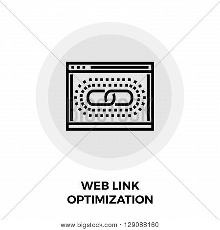 Web Link Optimization icon vector. Flat icon isolated on the white background. Editable EPS file. Vector illustration.