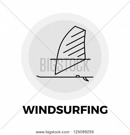 Windsurfing Icon Vector. Flat icon isolated on the white background. Editable EPS file. Vector illustration.