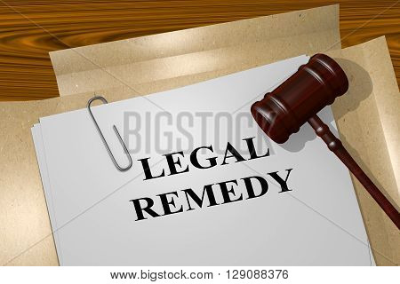Legal Remedy Legal Concept
