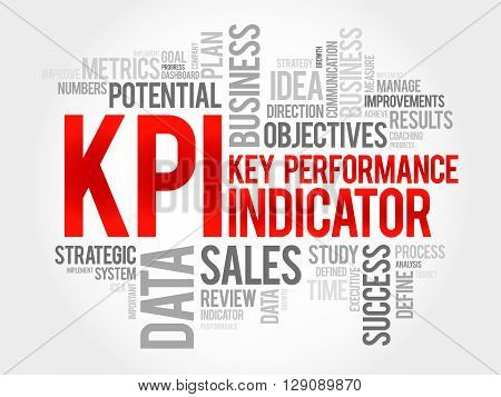 KPI - Key Performance Indicator word cloud business concept