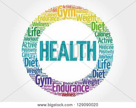 Health Circle Word Cloud