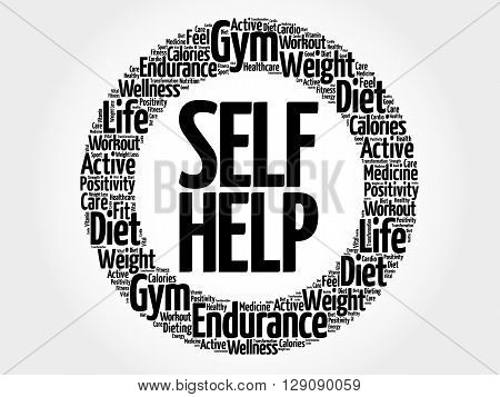 Self Help Circle Word Cloud