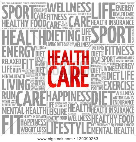 Health Care Word Cloud Background