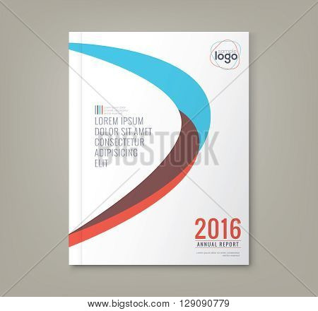 Abstract minimal curved shapes design background template for business annual report book cover brochure flyer poster