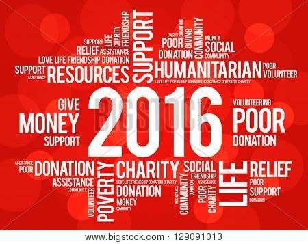 2016 help word cloud concept background, presentation background