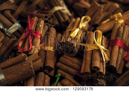 Cinnamon in the electoral focus. It can be used as a background