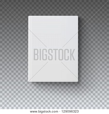 Blank book cover, vector illustration gradient mesh. Isolated objects template for design and branding. Mock-up of book  on transparent background