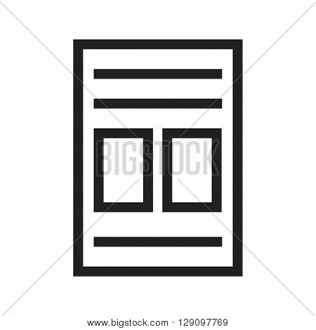 Page, list, picture icon vector image. Can also be used for data sharing. Suitable for use on web apps, mobile apps and print media.