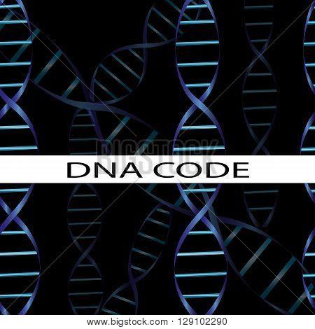 icons on the theme of genetics, medicine