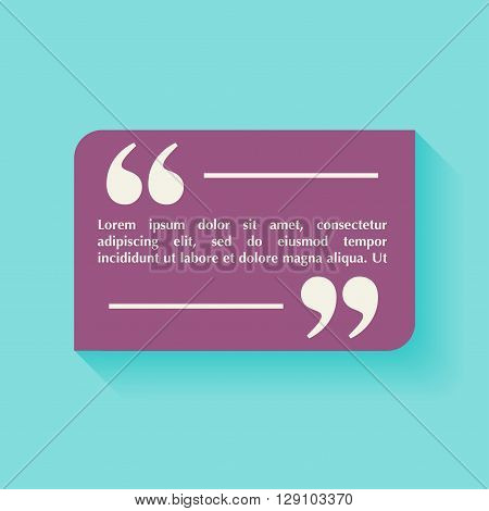 Quote Blank Template. Design Elements, Circle Business Card Template, Paper Sheet, Information, Text