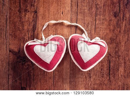 two heart shape of decoration