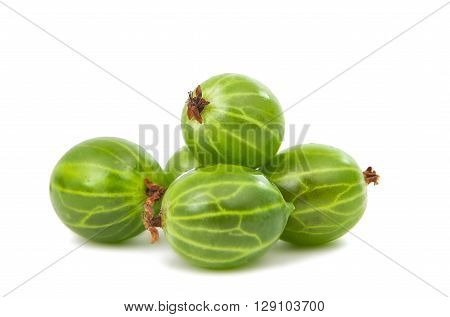 gooseberries isolated on a white background sweet, diet,