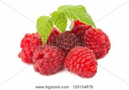 Raspberry isolated on white background fruity, fruit,