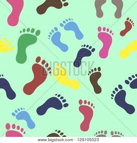 trail leg seamless texture colored background different