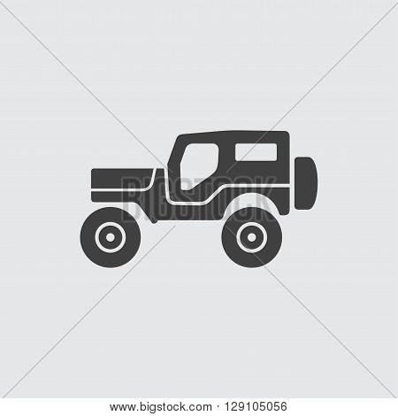 Jeep icon illustration isolated vector sign symbol