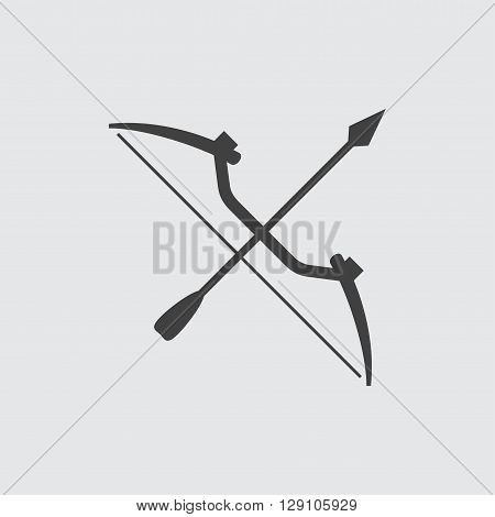 Bow icon illustration isolated vector sign symbol