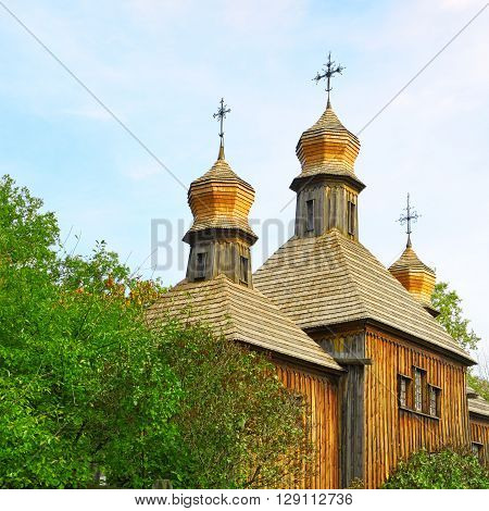 A Orthodox Church the old wooden building