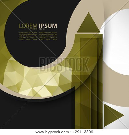 eps10 vector polygon elements business material concept design