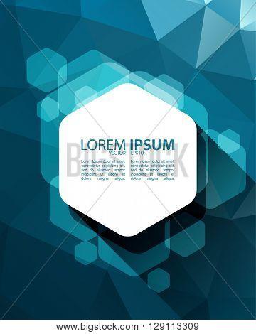 eps10 vector polygon elements hexagon frame material concept design