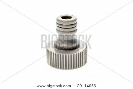 Garden Water Hose Nozzle Or Connectors Isolated On White Background