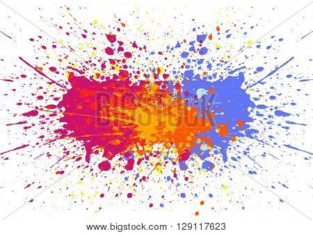 Abstract splatter color background. illustration vector design
