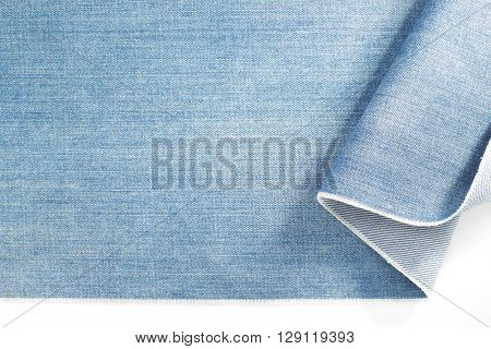 blue jeans denim isolated on white background