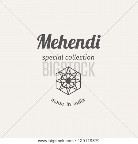 Asian fashion shops logo template. Vector ethnic ornamental design for clothing and accessories boutiques.
