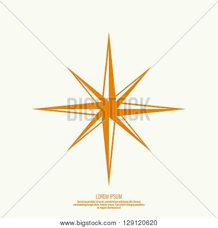 Vector star icon. Peaked geometrical figure. Twinkle