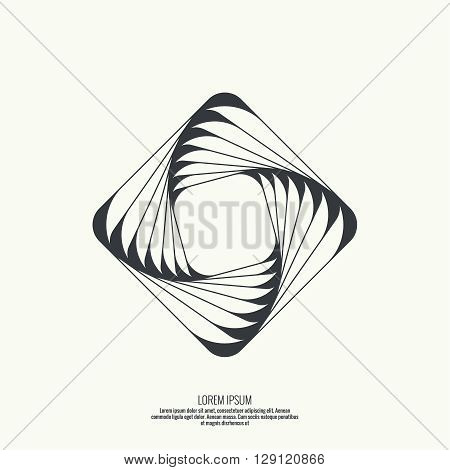 Abstract background with intersecting geometric shapes. Square, rectangle geometry. Badge, monogram, banner. Black and White. shutter