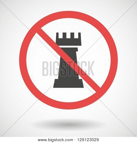 Forbidden Vector Signal With  A  Rook   Chess Figure