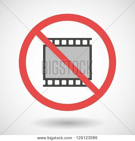 Forbidden Vector Signal With    A Photographic 35Mm Film Strip
