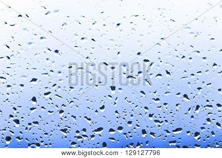 color bright raindrops on glass rain weather background