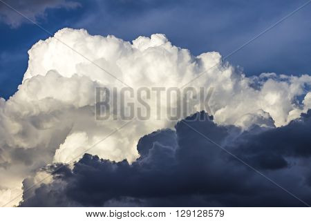 Dark storm clouds closeup horizonta beautiful contrast