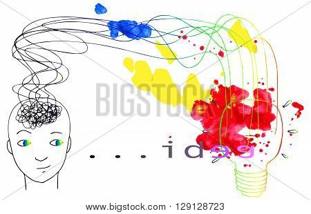 Finding new creative ideas for success vector