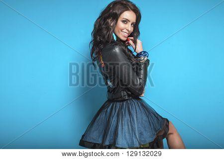 Smiling Sexy Girl Posing.