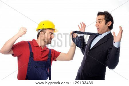 Class struggle between business manager and worker