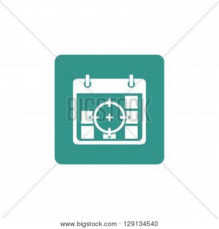 Deadline Icon In Vector Format. Premium Quality Deadline Symbol. Web Graphic Deadline Sign On Green