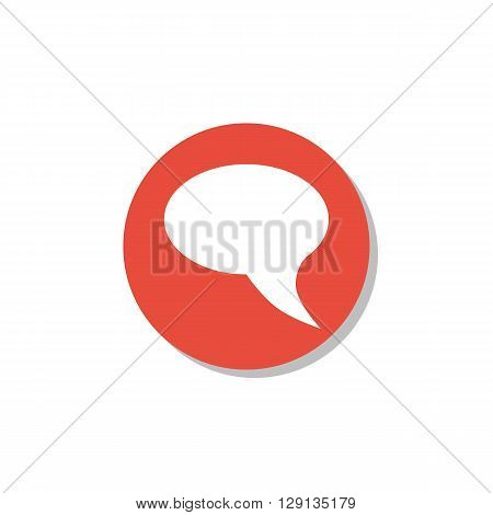 Talk Icon Icon In Vector Format. Premium Quality Talk Icon Symbol. Web Graphic Talk Icon Sign On Red