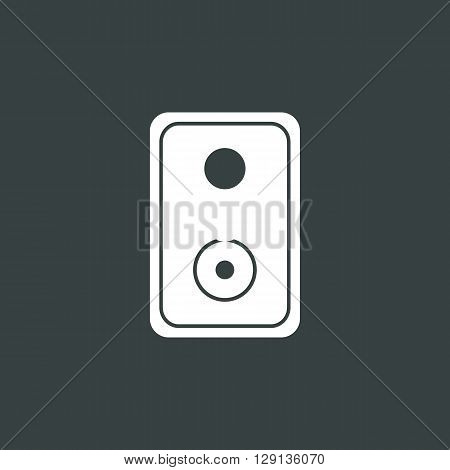 Speaker Icon In Vector Format. Premium Quality Speaker Symbol. Web Graphic Speaker Sign On Dark Back