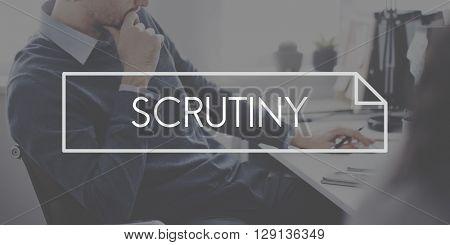 Scrutiny Audit Observe Investigator Magnifier Concept