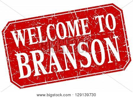 welcome to Branson red square grunge stamp