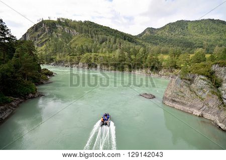 View of the Katun river. Russia Altai Republic