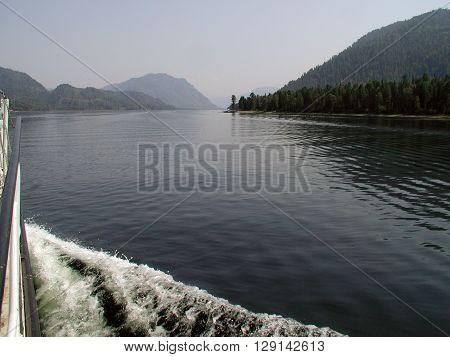 Lake Teletskoye Altaj Siberia 10 August 2002