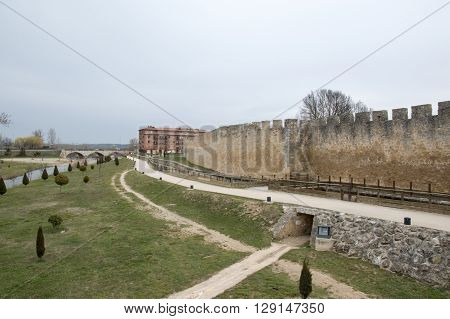 Wall of El Burgo de Osma in Soria, Spain.