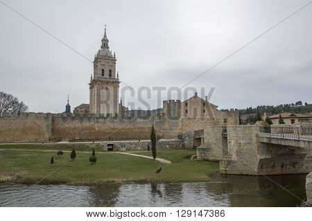 Bridge and bell tower of El Burgo de Osma