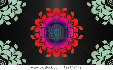 Vector ornamental round lace with damask and arabesque elements. Mehndi style. Orient traditional ornament.