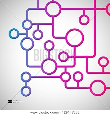 Abstract background with circles and lines design elements.