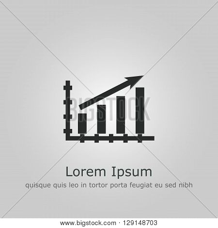 Stats Up Icon In Vector Format. Premium Quality Stats Up Symbol. Web Graphic Stats Up Sign On Grey B