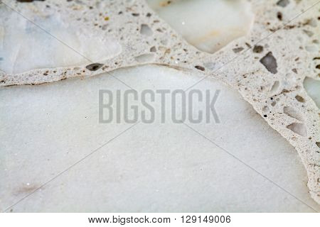 Terrazzo background. Section and cut through the stone.